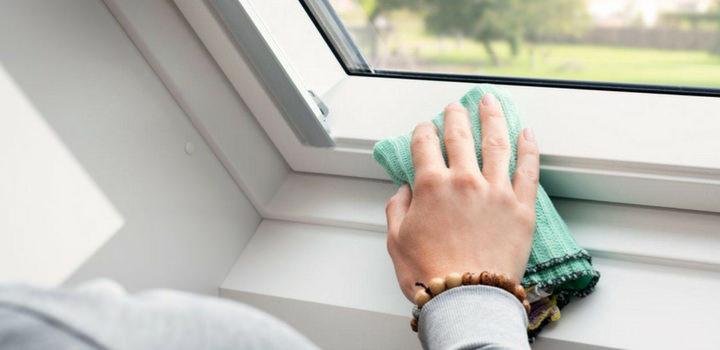 como limpar as calhas das janelas
